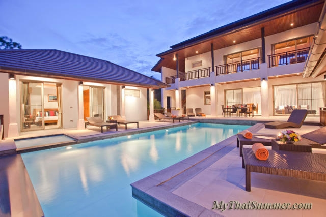 Luxurious 5 bedroom villa, located in 500 meters to Choeng  Mon beach