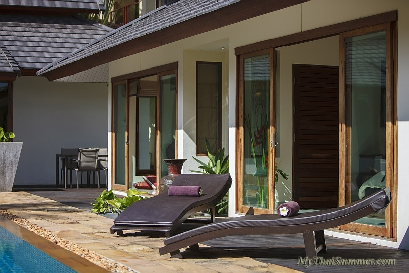 3 bedroom balinese style villa with private swiming pool in Chaweng