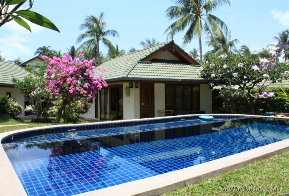 Beautiful 5 bedroom villa with access to secluded sand beach.