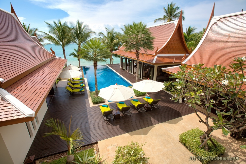 Luxury 5 bedroom villa, located on Lipa Noi beach