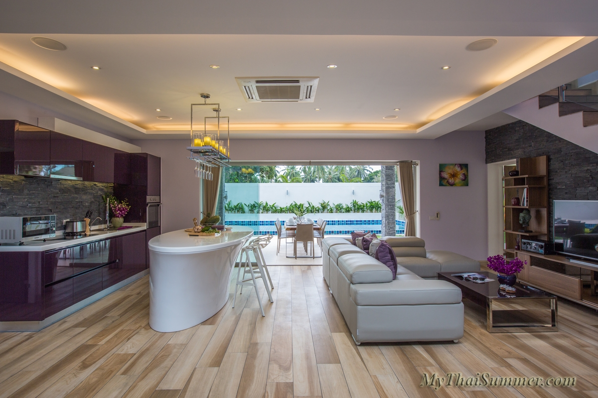 This is brand-new 5 bedroom villa in 5 minutes walk to Ban Tai beach (4 bedroom occupancy)