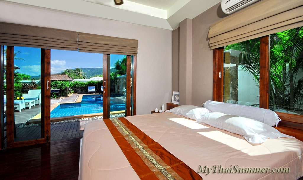 Beautiful 4 bedroom  villa  with private swimming pool, located in 3 kilometers from Chaweng beach