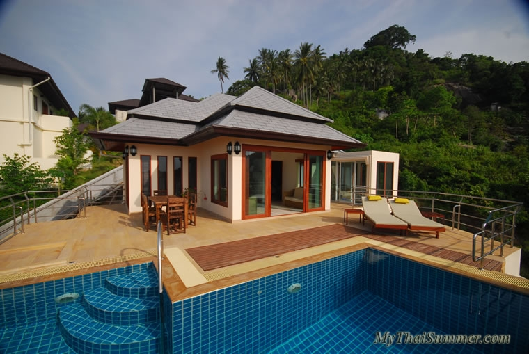 Seaview villa, located in 2,3 km to Lamai beach