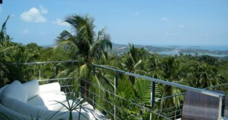 4  bedroom seaview villa, located on Chaweng hills