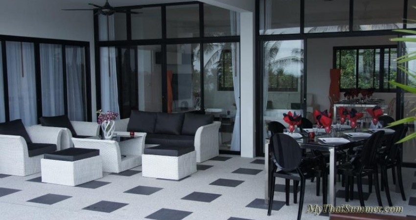 3 bedroom seaview villa with private swimming pool and jacuzzi, located in Chaweng Noi