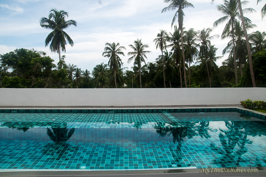 2 bedroom deluxe sea view apartment with private and common swimming pool, located on Lamai hills
