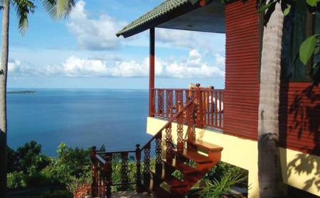 1 bedroom spectacular sea view villa, located on hills of Coral Cove